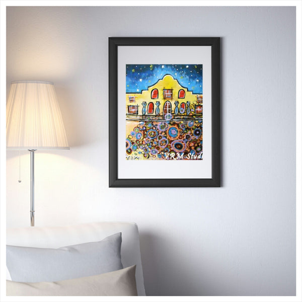 Remember It, folk art print on lustre photo paper, unmatted or matted