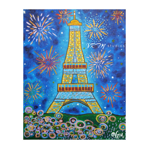 A Parisian Extravaganza, folk art print on quality acid free photo paper, unmatted or matted