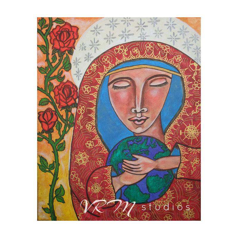 Mother's Love, mexican folk art print on lustre photo paper, unmatted or matted