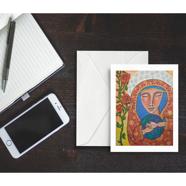 Mother's Love, blank greeting card with envelope