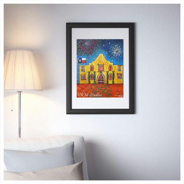 Home Sweet Home, folk art print on lustre photo paper, unmatted or matted