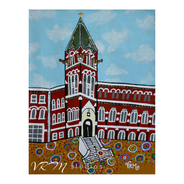 Goin' To The Incarnate Word Chapel, folk art print on quality acid free photo paper, unmatted or matted