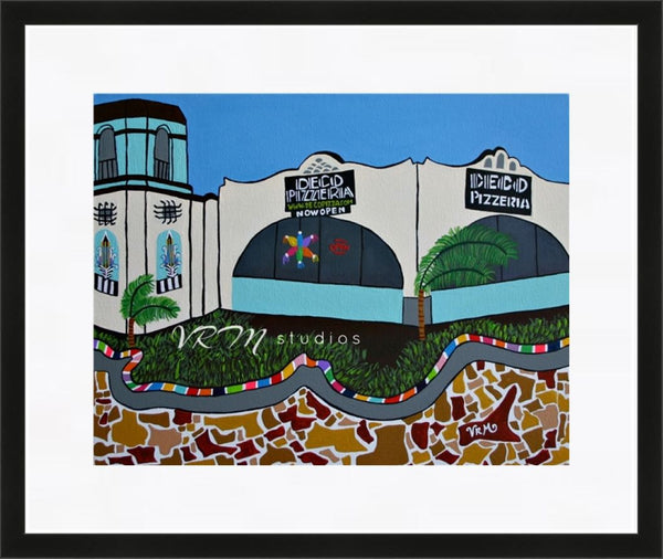 Meet Me At Deco (Pizzeria), mexican folk art print on quality acid free photo paper, unmatted or matted