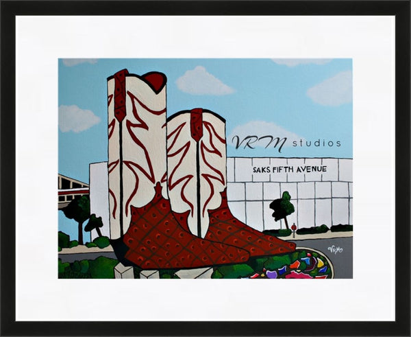 Giant Justins, folk art print on quality acid free photo paper, unmatted or matted