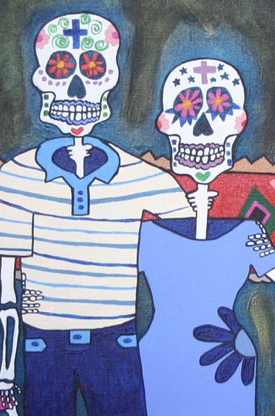 La Familia, mexican folk art print on quality acid free photo paper, unmatted or matted