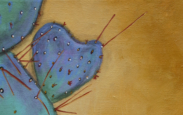 Prickly Valentine, Handle With Care, mexican folk art print on lustre photo paper, unmatted or matted
