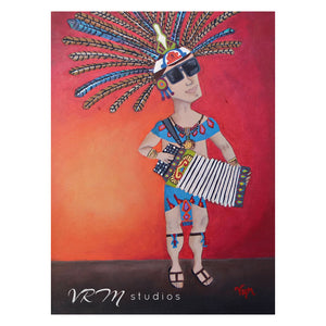 Conjunto Warrior, mexican folk art print on lustre photo paper, unmatted or matted