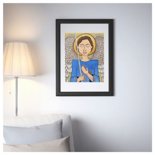 He Is Our Refuge and Strength, mexican folk art print on lustre photo paper, unmatted or matted