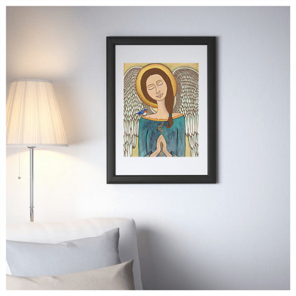 Pray Without Ceasing, mexican folk art print on lustre photo paper, unmatted or matted