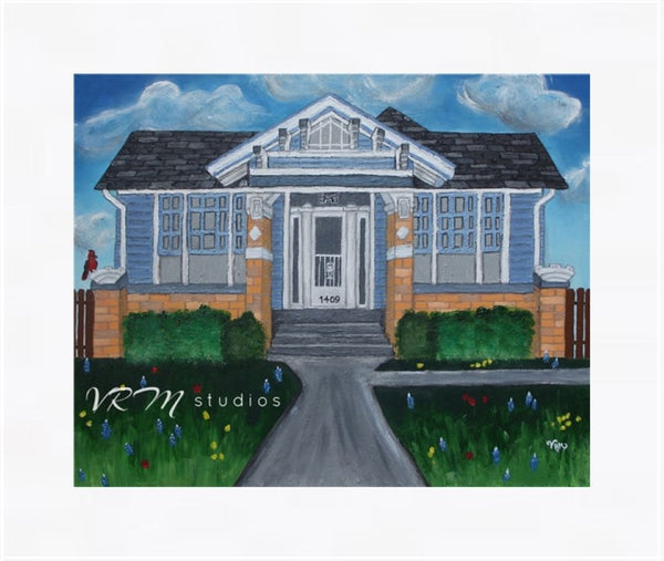 Heritage House, folk art print on lustre photo paper, unmatted or matted
