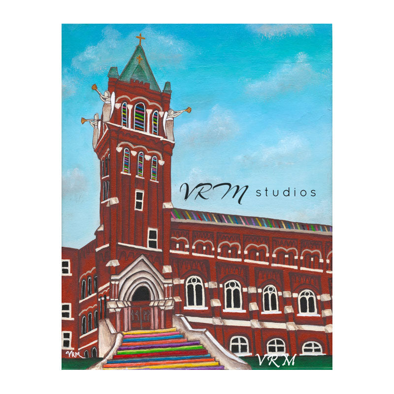 UIW, folk art print on lustre photo paper, unmatted or matted