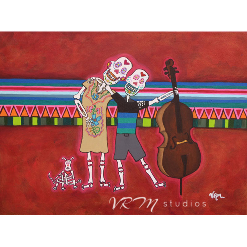 Viva Familia, mexican folk art print on lustre photo paper, unmatted or matted