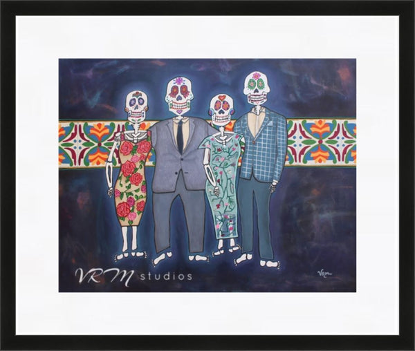 La Familia Elegante, mexican folk art print on lustre photo paper, unmatted or matted