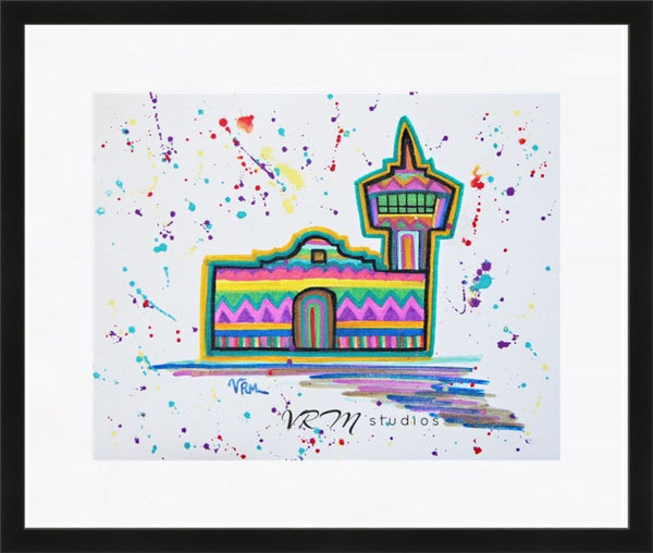 SA Fiesta, folk art print on lustre photo paper, unmatted or matted