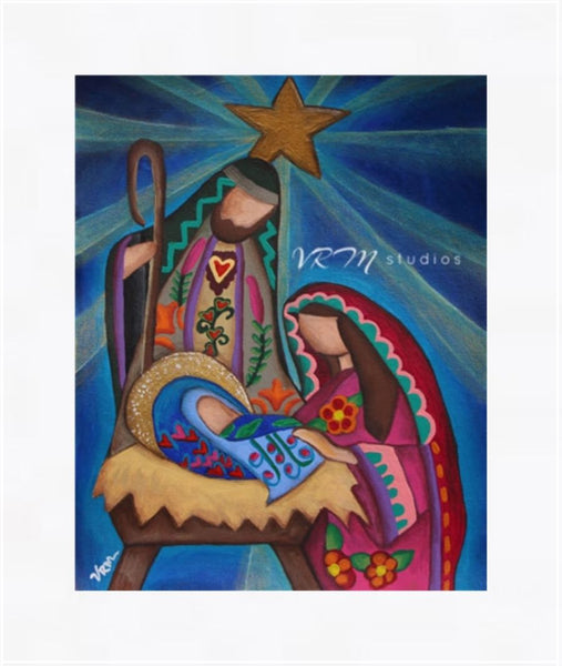 Rejoice, mexican folk art print on lustre photo paper, unmatted or matted