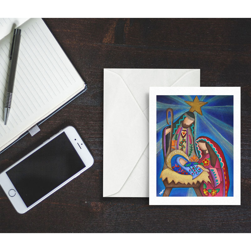 Rejoice, blank greeting card with envelope