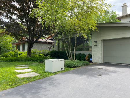 Lockable Package Box Placed on Driveway