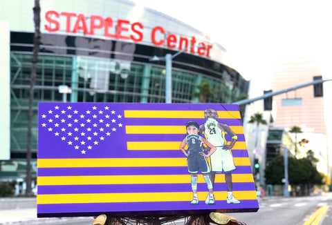 LAKERS Kobe & Gigi 💜💛 in collaboration with TheProducerBDB
