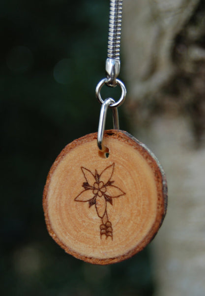 Real Wood Keyring and Card - Peace/Tranquillity - Stonecrop