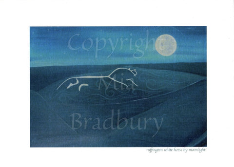 Uffington White Horse by Moonlight