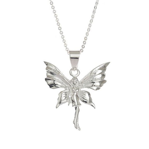 Sterling Silver Fairy Pendant and Chain