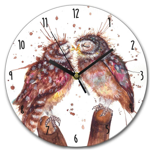 Loved Up Owls Clock