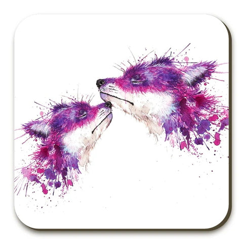 Sweet Kisses Foxes Coasters Twin Pack