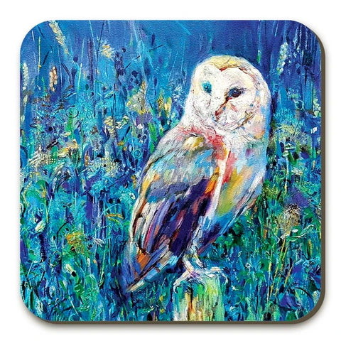 Midsummer Owl Coasters Twin Pack