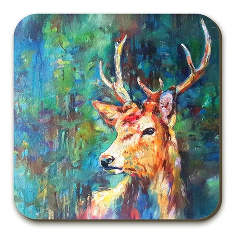 Watcher in the Wood Stag Coasters Twin Pack