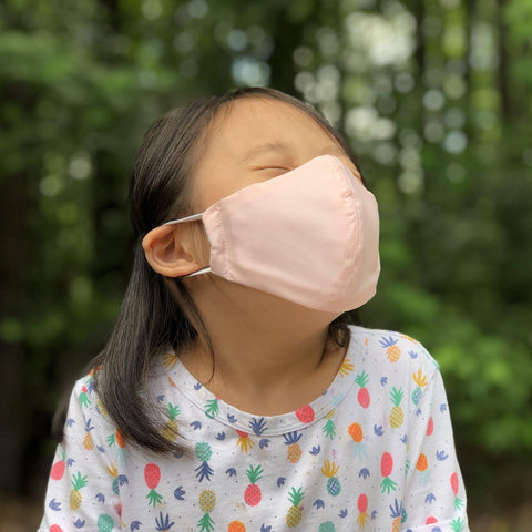 Fabric Face Mask (Baby Pink)-Fabric Mask-Handcrafted Joy Boutique-Handcrafted Joy Boutique