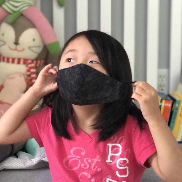 Fabric Face Mask (Black Canvas)-Fabric Mask-Handcrafted Joy Boutique-Handcrafted Joy Boutique