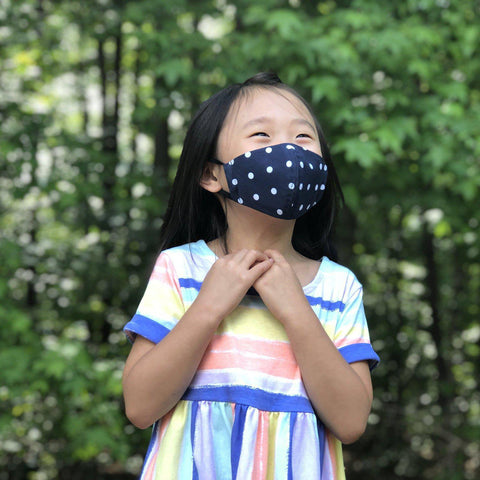 Fabric Face Mask (Dots Navy)-Fabric Mask-Handcrafted Joy Boutique-Handcrafted Joy Boutique