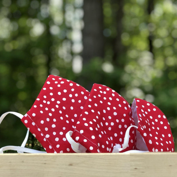 Fabric Face Mask (Dots Red)-Fabric Mask-Handcrafted Joy Boutique-Handcrafted Joy Boutique