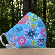 Fabric Face Mask (Flowers A)-Fabric Mask-Handcrafted Joy Boutique-Handcrafted Joy Boutique