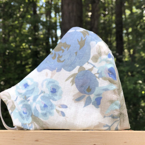 Fabric Face Mask (Flowers B)-Fabric Mask-Handcrafted Joy Boutique-Handcrafted Joy Boutique
