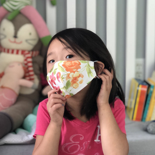 Fabric Face Mask (Flowers G)-Fabric Mask-Handcrafted Joy Boutique-Handcrafted Joy Boutique