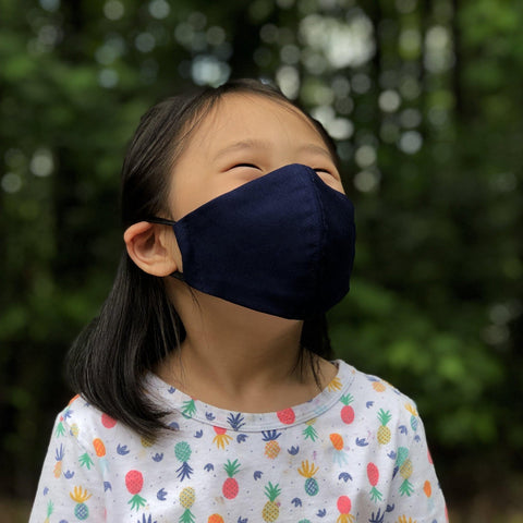 Fabric Face Mask (Navy C)-Fabric Mask-Handcrafted Joy Boutique-Handcrafted Joy Boutique