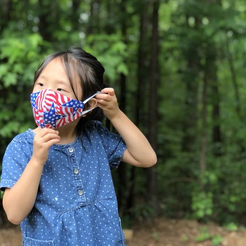 Fabric Face Mask (Patriot A)-Fabric Mask-Handcrafted Joy Boutique-Handcrafted Joy Boutique