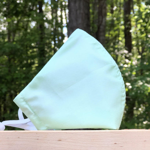 Fabric Face Mask (Seafoam Green)-Fabric Mask-Handcrafted Joy Boutique-Handcrafted Joy Boutique