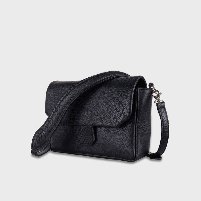 Snake Purse Crossbody Black