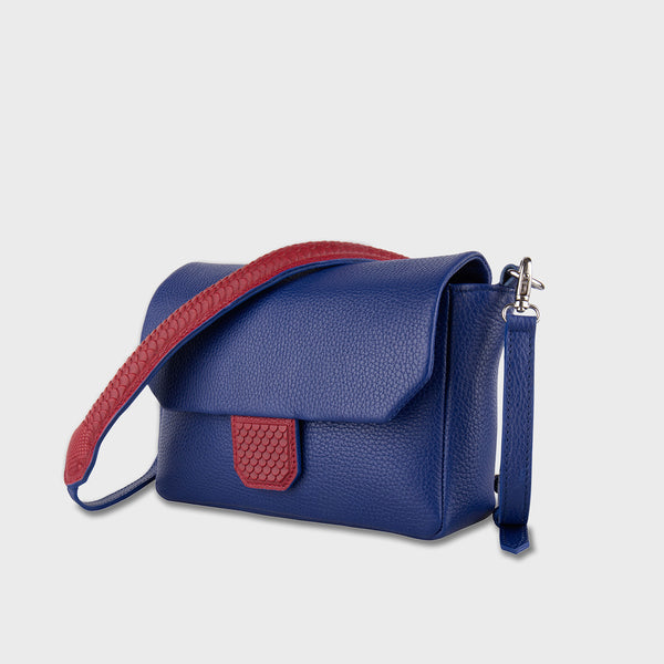Snake Purse Crossbody Blue