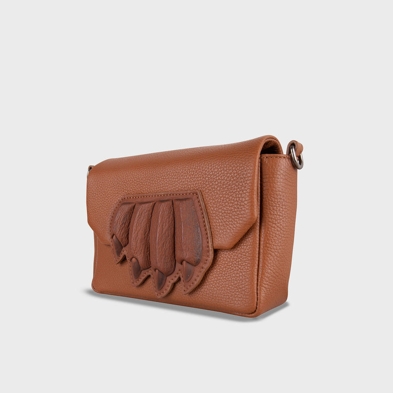Claw Purse Crossbody Brown