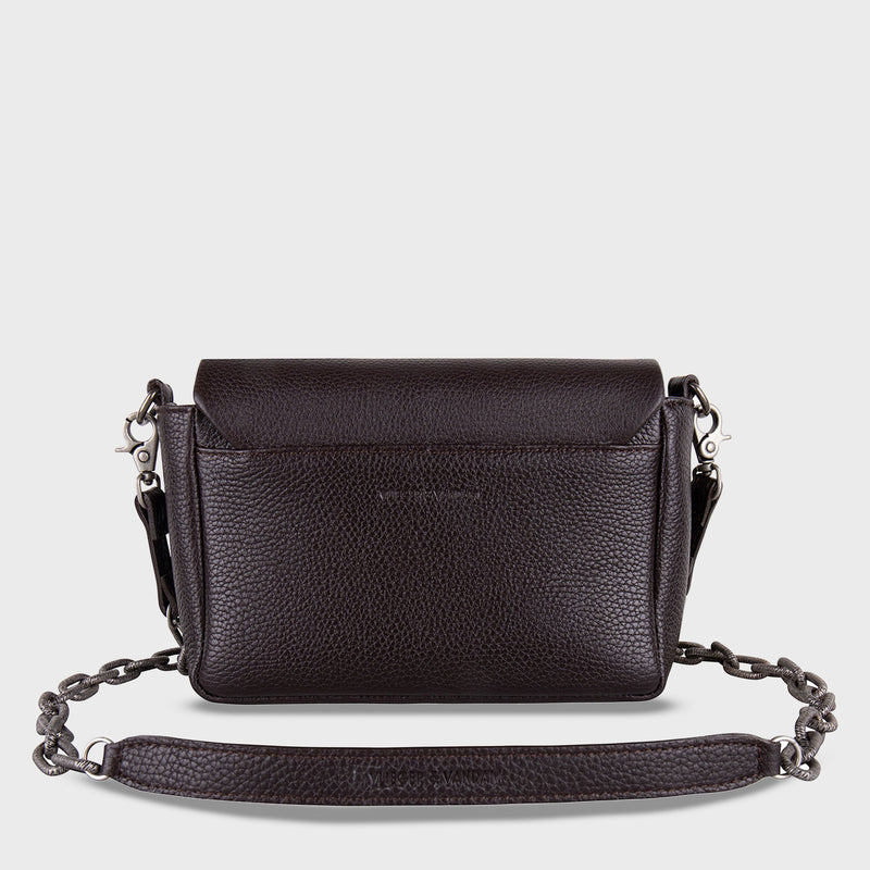 Claw Purse Crossbody Dark Brown