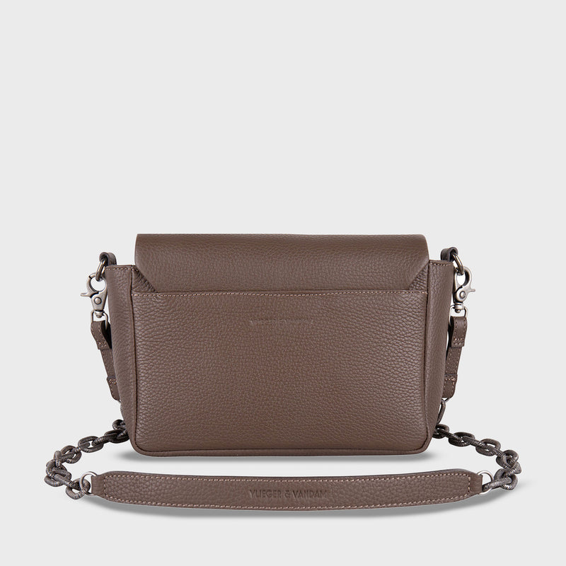 Claw Purse Crossbody Dark Clay