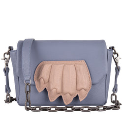 12340 Claw Crossbody Purse Lavender Blue front