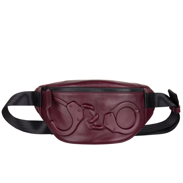 14703 Belt Bag Handcuffs Burgundy front