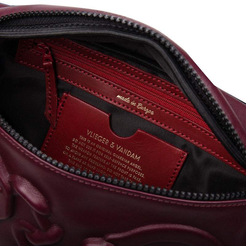 14703 Belt Bag Handcuffs Burgundy interior