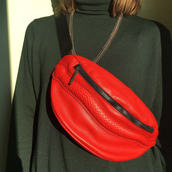 Belt Bag Snake Lipstick Red