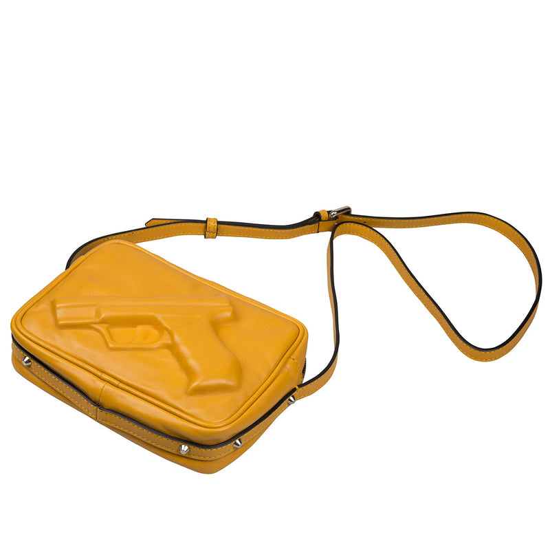 14901 Camera Bag Gun Yellow flat