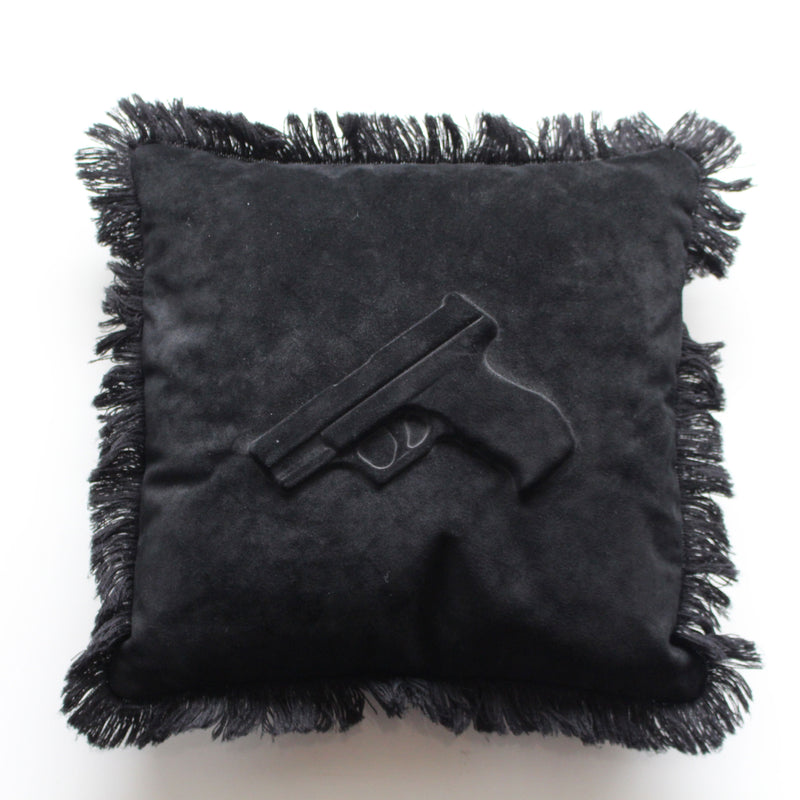 Cushion Gun Black Suede